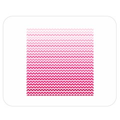 Pink Gradient Chevron Double Sided Flano Blanket (medium)