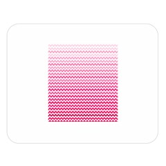Pink Gradient Chevron Double Sided Flano Blanket (Large)