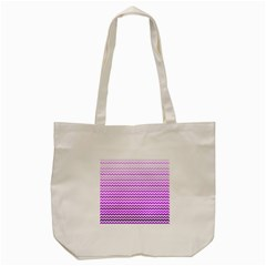 Purple Gradient Chevron Tote Bag (cream)