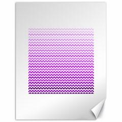 Purple Gradient Chevron Canvas 18  x 24