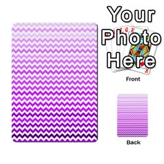 Purple Gradient Chevron Multi Purpose Cards (rectangle)