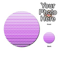 Purple Gradient Chevron Multi Purpose Cards (round)