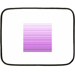 Purple Gradient Chevron Fleece Blanket (mini)