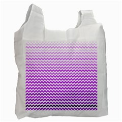 Purple Gradient Chevron Recycle Bag (Two Side)