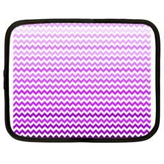 Purple Gradient Chevron Netbook Case (XL)