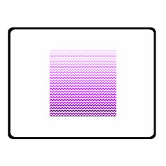 Purple Gradient Chevron Fleece Blanket (Small)