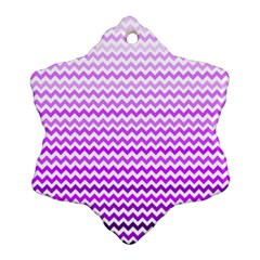 Purple Gradient Chevron Ornament (snowflake)