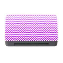Purple Gradient Chevron Memory Card Reader with CF
