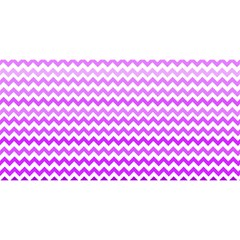 Purple Gradient Chevron YOU ARE INVITED 3D Greeting Card (8x4)
