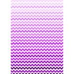 Purple Gradient Chevron Circle Bottom 3D Greeting Card (7x5)  Inside
