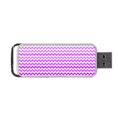 Purple Gradient Chevron Portable Usb Flash (two Sides)