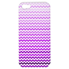 Purple Gradient Chevron Apple iPhone 5 Hardshell Case