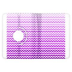 Purple Gradient Chevron Kindle Fire Hdx Flip 360 Case