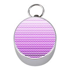 Purple Gradient Chevron Mini Silver Compasses