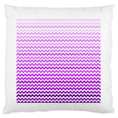 Purple Gradient Chevron Standard Flano Cushion Cases (One Side)