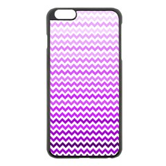 Purple Gradient Chevron Apple iPhone 6 Plus/6S Plus Black Enamel Case