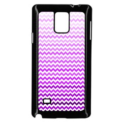 Purple Gradient Chevron Samsung Galaxy Note 4 Case (black)
