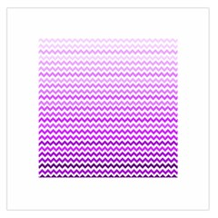 Purple Gradient Chevron Large Satin Scarf (Square)