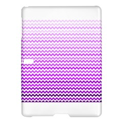 Purple Gradient Chevron Samsung Galaxy Tab S (10.5 ) Hardshell Case