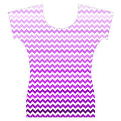 Purple Gradient Chevron Women s Cap Sleeve Top