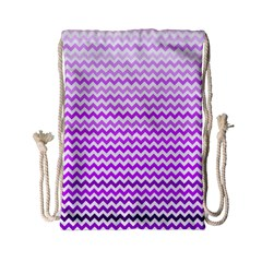 Purple Gradient Chevron Drawstring Bag (Small)