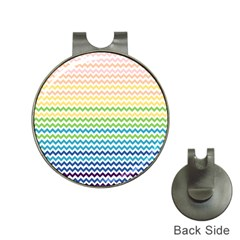 Pastel Gradient Rainbow Chevron Hat Clips with Golf Markers