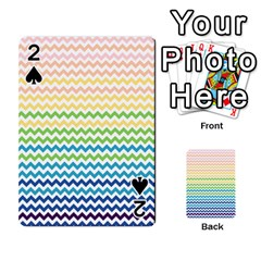 Pastel Gradient Rainbow Chevron Playing Cards 54 Designs