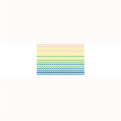 Pastel Gradient Rainbow Chevron Large Bar Mats