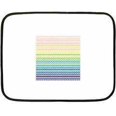 Pastel Gradient Rainbow Chevron Fleece Blanket (Mini)