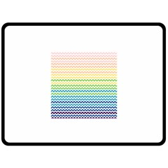 Pastel Gradient Rainbow Chevron Fleece Blanket (large)