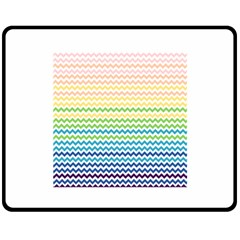 Pastel Gradient Rainbow Chevron Fleece Blanket (Medium)