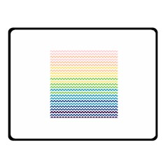 Pastel Gradient Rainbow Chevron Fleece Blanket (Small)