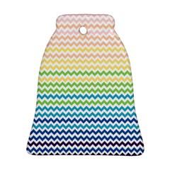 Pastel Gradient Rainbow Chevron Ornament (Bell)