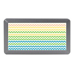Pastel Gradient Rainbow Chevron Memory Card Reader (Mini)