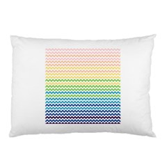 Pastel Gradient Rainbow Chevron Pillow Cases (Two Sides)