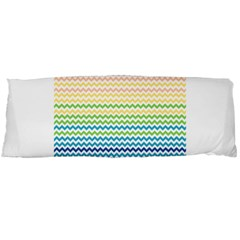 Pastel Gradient Rainbow Chevron Body Pillow Cases (dakimakura)