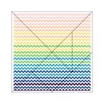 Pastel Gradient Rainbow Chevron Acrylic Tangram Puzzle (6  x 6 ) Front