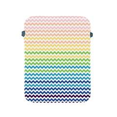 Pastel Gradient Rainbow Chevron Apple iPad 2/3/4 Protective Soft Cases
