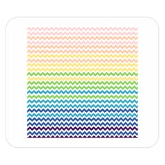 Pastel Gradient Rainbow Chevron Double Sided Flano Blanket (Small)