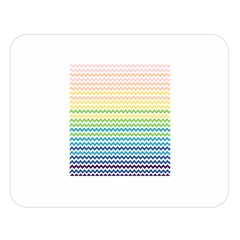 Pastel Gradient Rainbow Chevron Double Sided Flano Blanket (Large)
