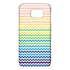 Pastel Gradient Rainbow Chevron Galaxy S6
