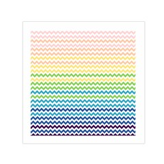 Pastel Gradient Rainbow Chevron Small Satin Scarf (square)