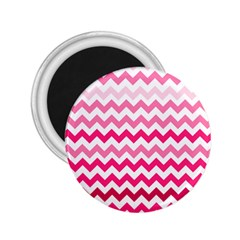 Pink Gradient Chevron Large 2.25  Magnets