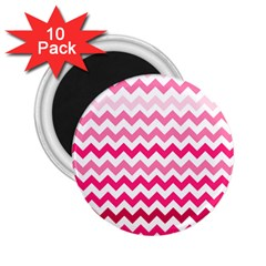 Pink Gradient Chevron Large 2.25  Magnets (10 pack)