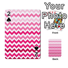 Pink Gradient Chevron Large Playing Cards 54 Designs