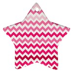 Pink Gradient Chevron Large Star Ornament (Two Sides)  Back