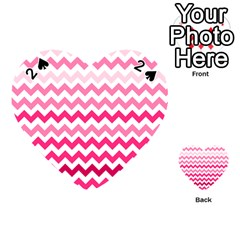 Pink Gradient Chevron Large Playing Cards 54 (heart)