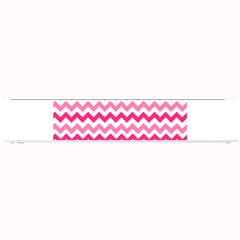 Pink Gradient Chevron Large Small Bar Mats