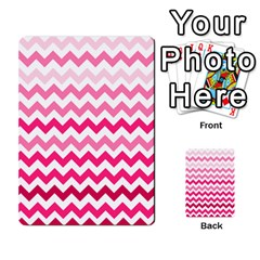 Pink Gradient Chevron Large Multi Purpose Cards (rectangle)