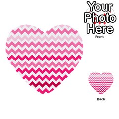 Pink Gradient Chevron Large Multi-purpose Cards (Heart)